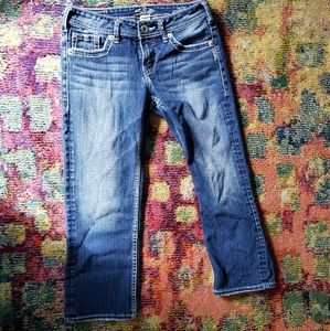 Silver Jeans Aiko Capri sz 26